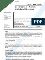 NBR 14859-2 - 2002 - Laje Pré-Fabricada - Requisitos - Parte 2 - Lajes Bidirecionais