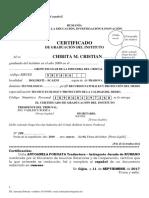Certificat Absolvire Liceu