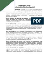 Ley Nacional de Transito 24449 Barra 94