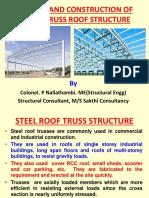 Design of Steel Truss Roof Structure
