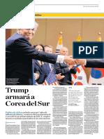 Trump Armará a Corea Del Sur