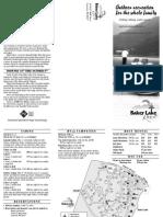 Baker Lake Resort Brochure