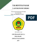 Bentuk-bentuk Pasar (Ekonomi Mikro)
