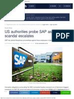 US Authorities Probe SAP as Gupta Scandal Escalates - Moneyweb