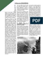 100 años de la revolucion Rusa - Bolivia