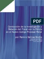 Conduccion de la Investigación y relación del Fiscal con la Policía
