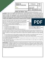 Física - Clóvis - AVALIAÇÃO Refração Dioptro Plano e RT 2017 INFO 2 BIM 3