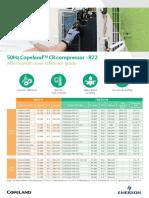 2017MEA46 50Hz Copeland CR Compressor Cross Reference _flyer