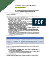 Regimen Tributario de La Micro y Pequeña Empresa