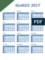 Calendario 2017 Hecho