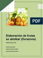 Elaboración de Frutas en Almíbar