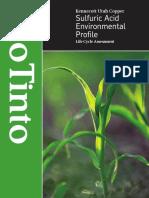 Sulfuric Acid Environmental Profile 2006