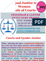 Equal Justice to Women- Role of Courts