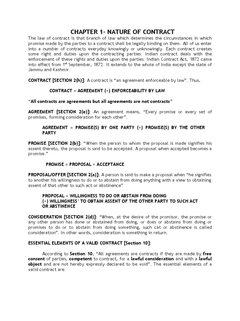 Law of contract legal concepts common law platinumwayz