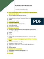 Banco de Preguntas Dell Libro de Gálatas Respuestas Oficiales