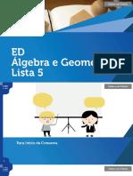 ED Algebra Geometria Lista 5
