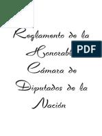 Reglamento de la Honorable Cámara de Diputados de la Nación