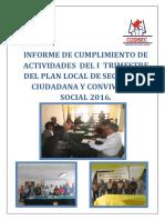 Informe I Trimestre Terminado 2016