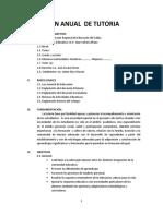 Plan Anual de Tutoria 2013