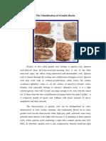 The Classification of Granite Rocks