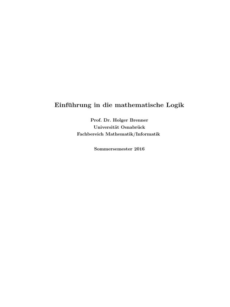 Mathematische Logik (Osnabrück 2016) Gesamtskript
