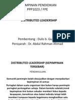 Distributed Leadership (Kepimpinan Tersebar)