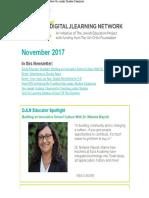 November 2017 Newsletter