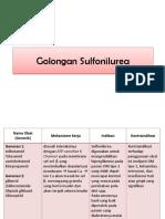 Golongan Sulfonilurea Dan Tiazilidindion