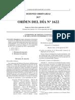 Orden del día Nº 1622 - Ingreso de tropas extranjeras