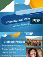 """Phi Beta Delta Honor Society For International Scholars- Trinh """"Sky"""" Pham Presentation on International Volunteer"""