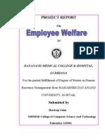 """ Employee Welfare"""