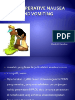 Post Operative Nausea and Vomiting