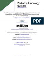 Journal of Pediatric Oncology Nursing 2014 Tucquet 327 38