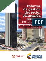 Informe Gestión Sector Planeación Nacional 2016-2017