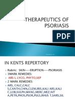 THerapeutics of Psoriasis