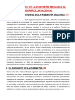Contribucion de La Ingeniería Mecánica Al Desarrollo Nacional