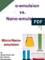 Micro vs Nano Emulsions - Devesh