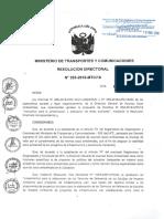 R.D. N° 253-2016-MTC_16 Instructivo para la elavoriación de fmsa