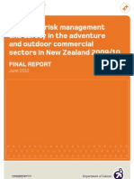 Review of risk management and safety in the adventure and outdoor commercial sectors in New Zealand 2009/10