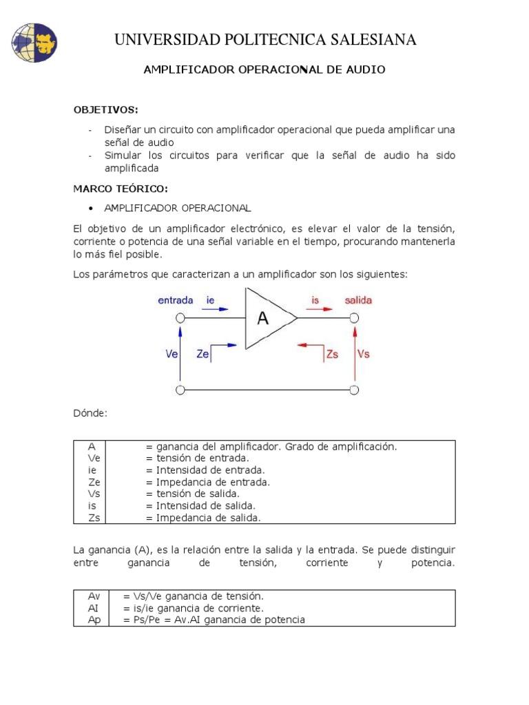 Amplificador Operacional de Audio Analogica Digital