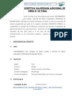 MEMORIA DESCRIPTIVA VALORIZADA ADICIONAL DE OBRA N° 02
