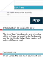 Business Law - Introduction