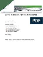 Diseño de Circuitos y Prueba de Resistencia