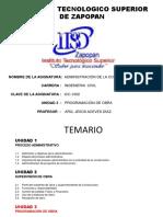 u3- Programación de Obra