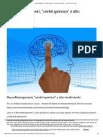 NeuroManagement, _cóctel Químico_ y Alto Rendimiento - Esco E-Universitas