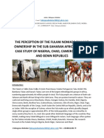 THE PERCEPTION OF THE FULANI NOMADS ON LAND OWNERSHIP IN THE SUB-SAHARAN AFRICAN REGION