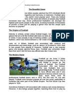Upper Ks2 Football Reading Comprehension