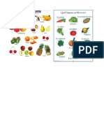 vocabulaire fruits et legumes