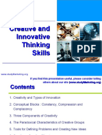 Creative and Innovative Thinking Skills 2503