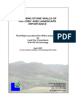 Defining Stone Walls of Historic and Landscape Importance
